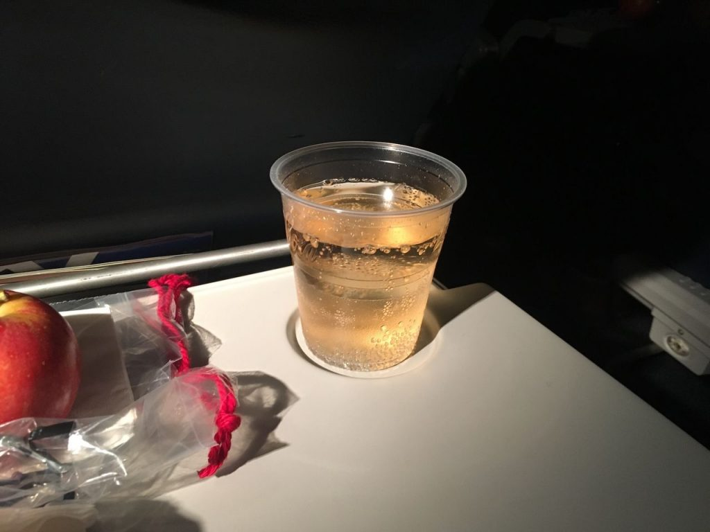Delta Air Lines Fleet Boeing 777-200ER Premium Economy (Comfort+) inflight drink services
