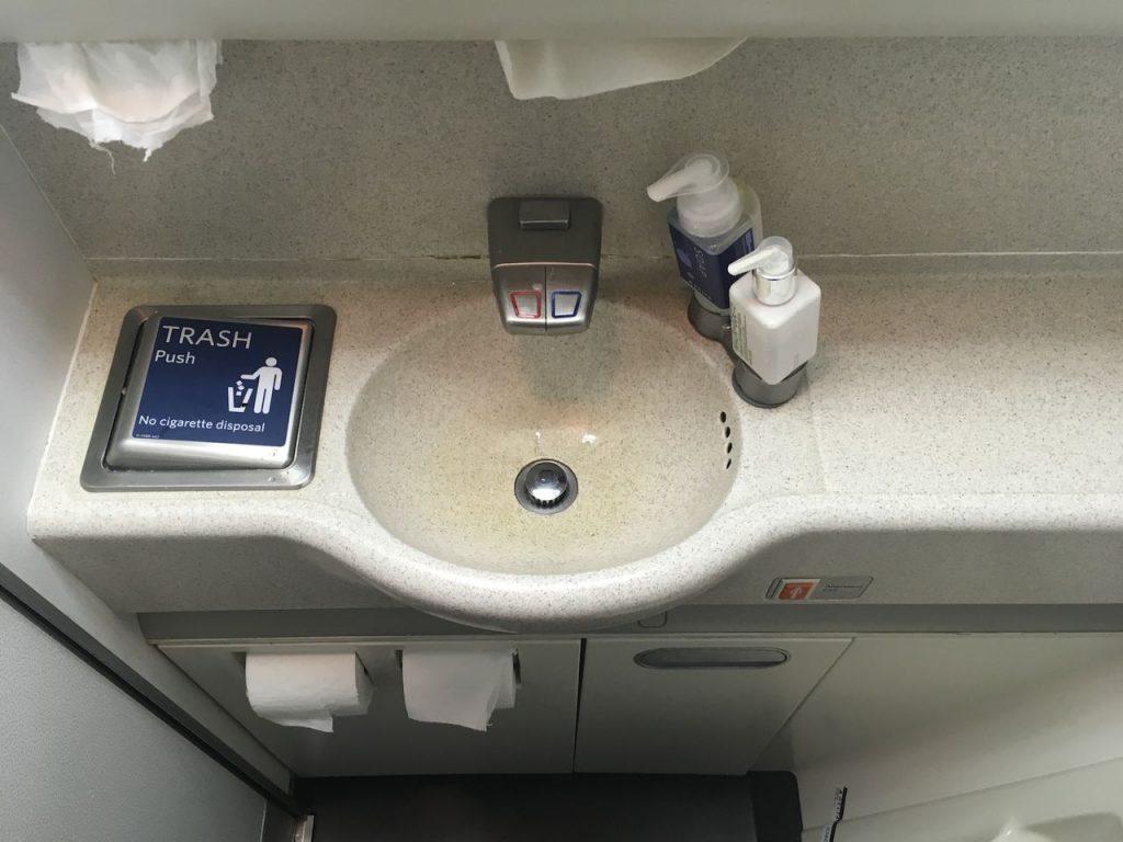 Delta Air Lines Fleet Boeing 777-200ER Premium Economy (Comfort+) lavatory photos