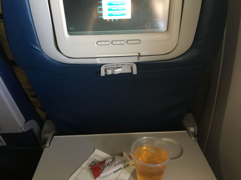 Delta Air Lines Fleet Boeing 777-200LR Main cabin economy class inflight amenities drink service