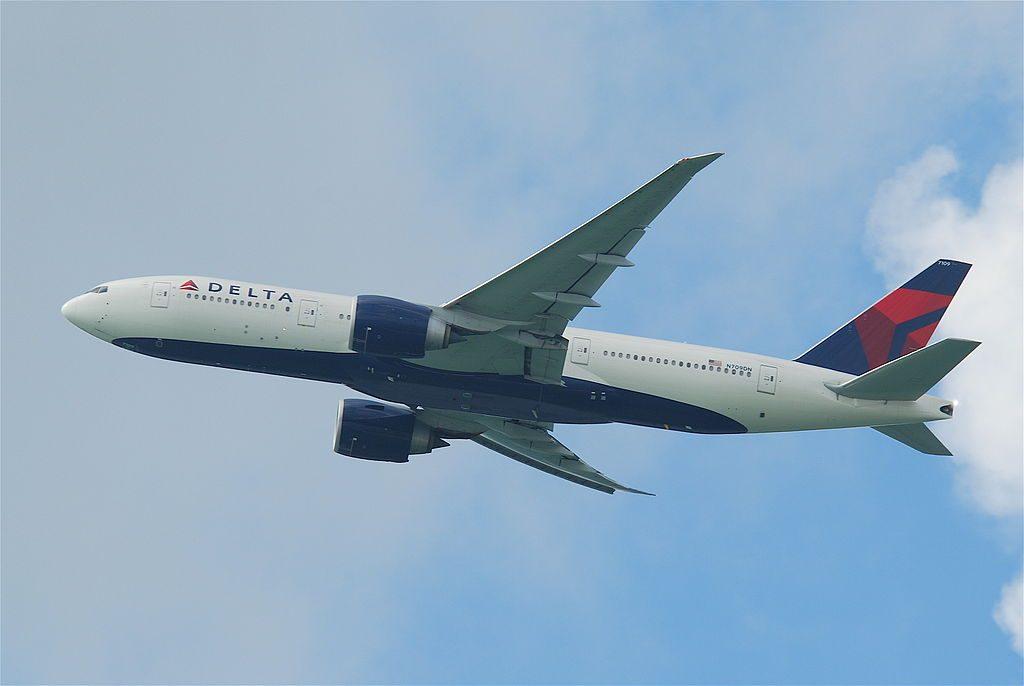 Delta Air Lines Fleet Boeing 777-200LR; N709DN @HKG Hong Kong International Airport (IATA- HKG, ICAO- VHHH) Chek Lap Kok