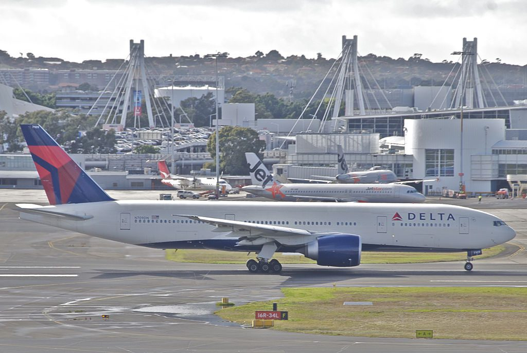 Delta Air Lines Fleet Boeing 777-200LR; N709DN @SYD Sydney (Kingsford Smith) Airport Australia