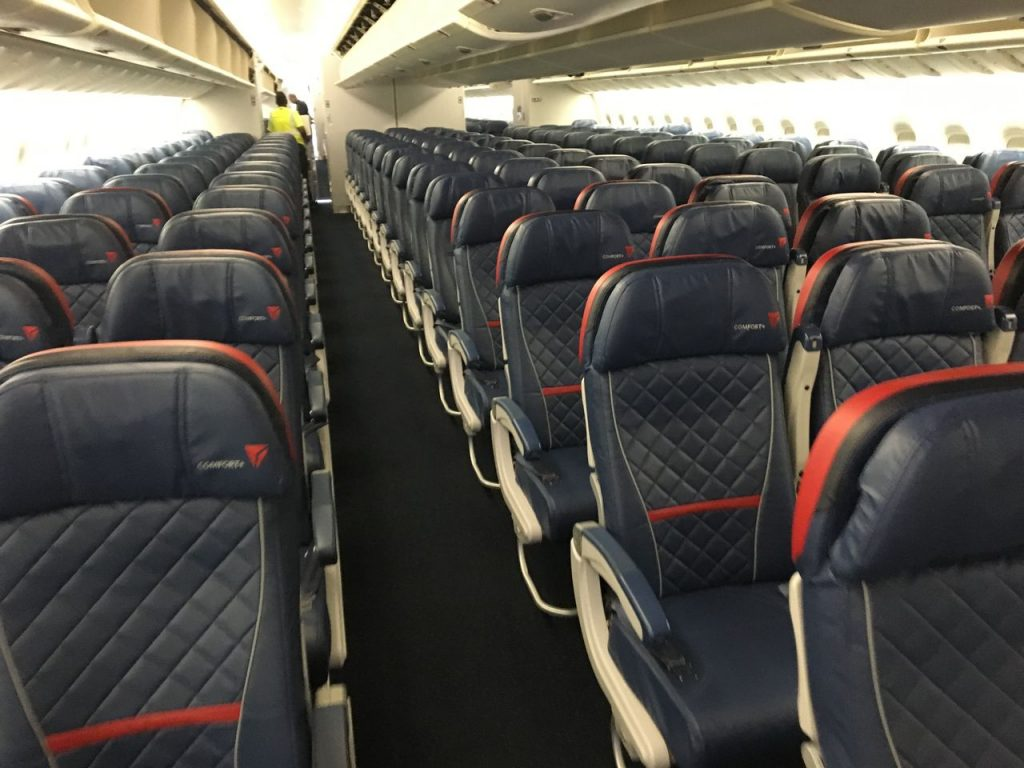 Delta Air Lines Fleet Boeing 777-200LR Premium Economy (Comfort+) Class Cabin and Seats layout photos