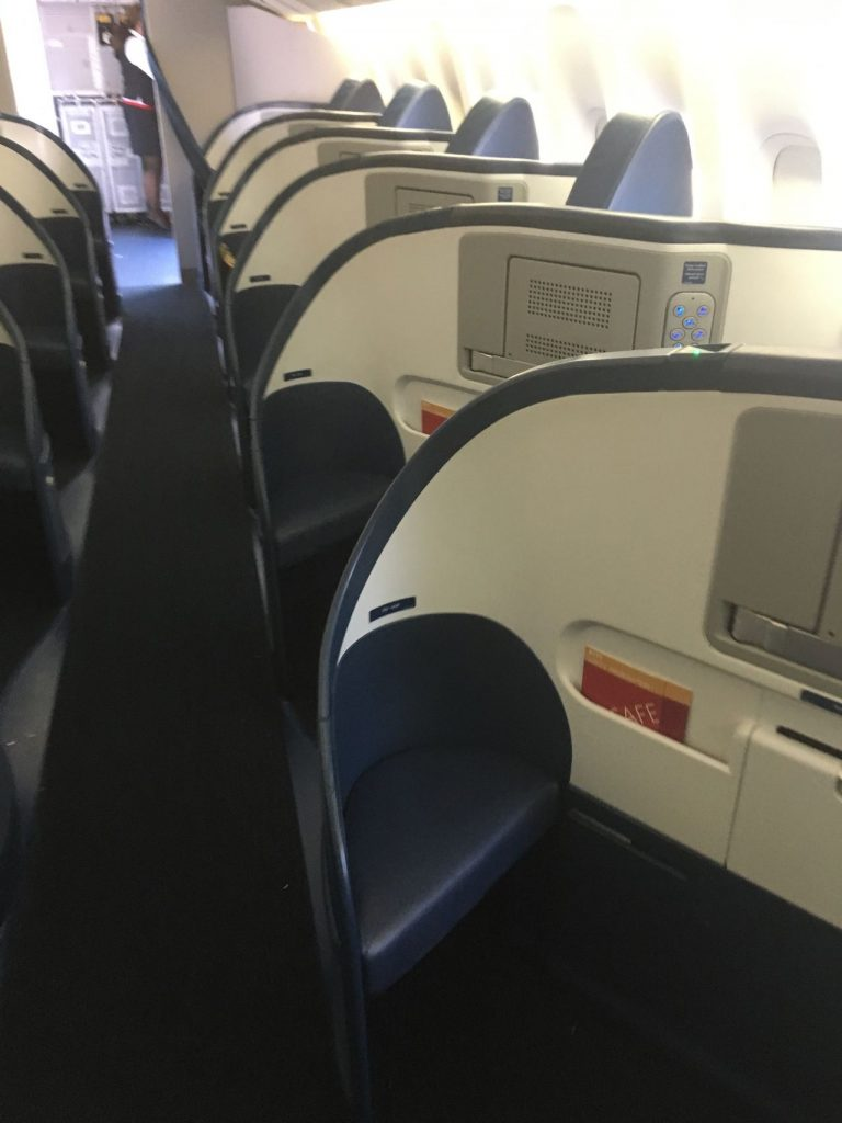 Delta Air Lines Fleet Boeing 777-200LR domestic first:business class:delta one seats photos