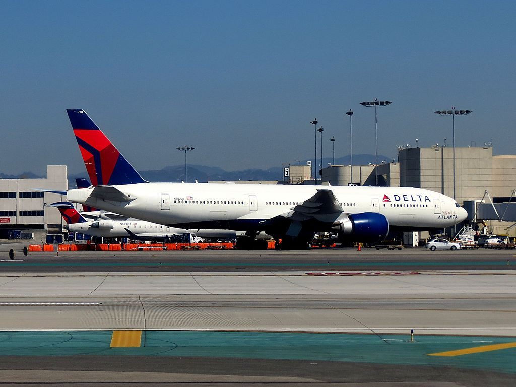 Delta Air Lines Fleet N702DN Boeing 777-232LR SN-29741 Spirit of Atlanta at Los Angeles International Airport