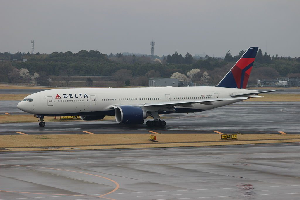 Delta Air Lines Fleet N704DK Boeing 777-232(LR) cn:serial number- 29739:772 at Narita International Airport (NRT:RJAA),JAPAN