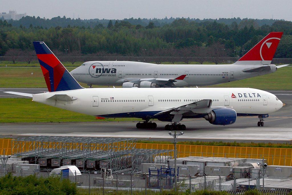 Delta Air Lines Fleet N860DA Boeing 777-232(ER) cn:serial number- 29951:202 at Tokyo - Narita International (New Tokyo) (NRT : RJAA), Japan