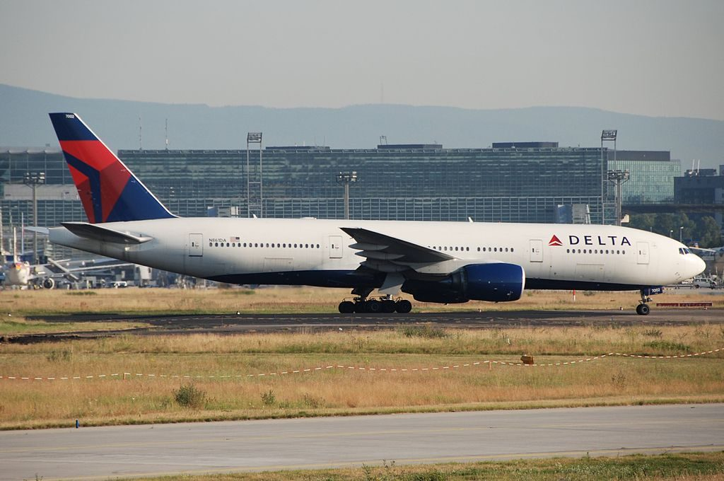 Delta Air Lines Fleet N861DA Boeing 777-232(ER) at Frankfurt Airport (IATA- FRA, ICAO- EDDF) Germany