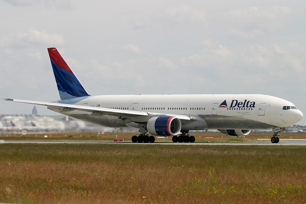 Delta Air Lines Fleet N864DA Boeing 777-232(ER) at Frankfurt am Main (Rhein-Main AB) (FRA : FRF : EDDF), Germany