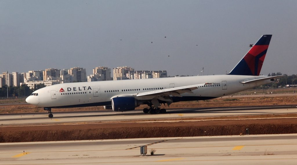 Delta Air Lines Fleet N865DA Boeing 777-232(ER) at Ben Gurion International Airport Israel