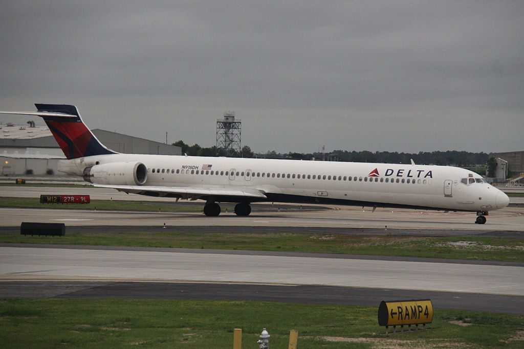 Delta Air Lines Narrow Body Regional Jet Fleet McDonnell Douglas MD-90-30 N918DH At Hartsfield-Jackson Atlanta International