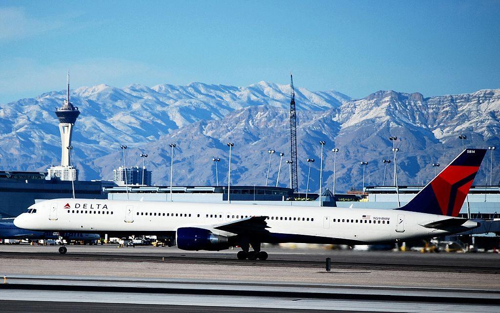Delta Air Lines (Northwest Airlines) Boeing 757-351 N594NW - 5814 (cn 32994-1035) at Las Vegas - McCarran International (LAS : KLAS) USA - Nevada
