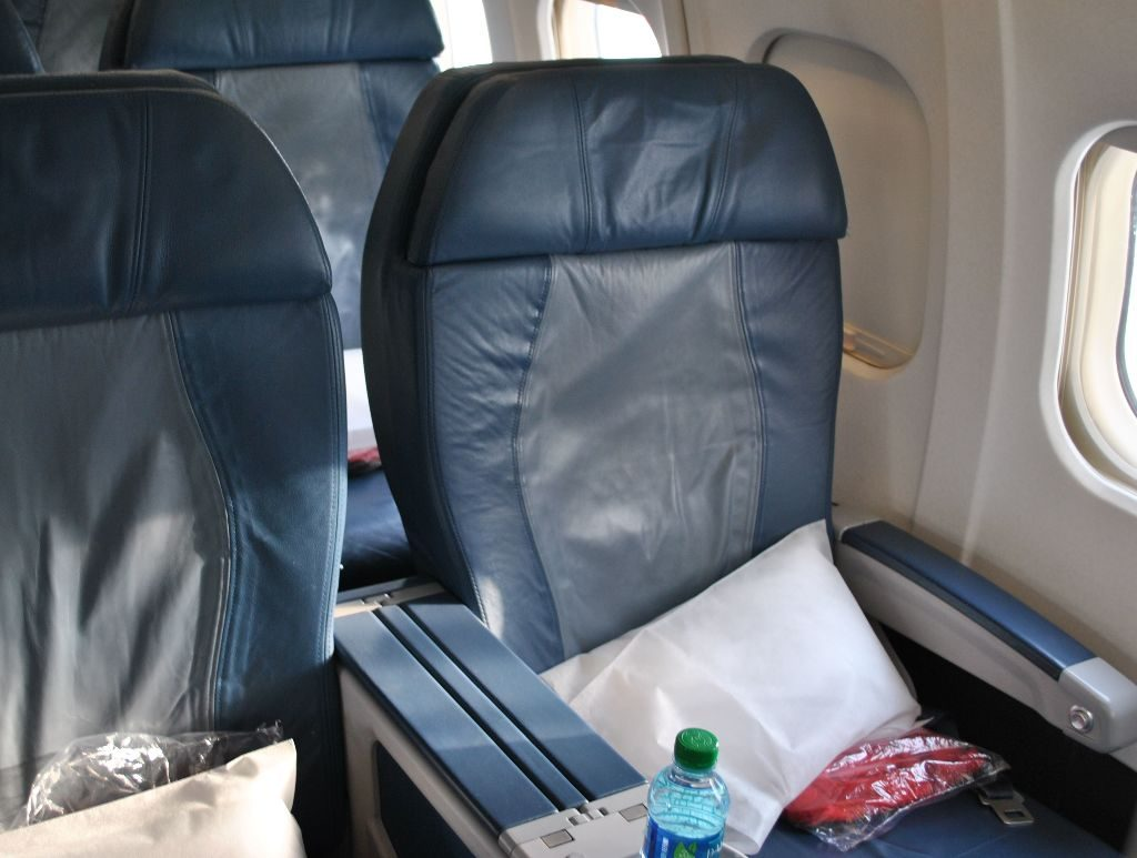 Delta Air Lines Regional Jet Fleet McDonnell Douglas MD-88 First Class Cabin Seats Photos