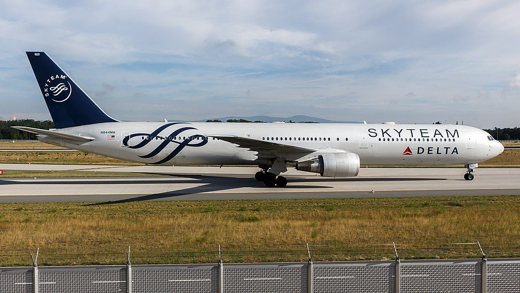 Delta Air Lines (SkyTeam livery) Boeing 767-400ER (N844MH) at Frankfurt Airport Germany