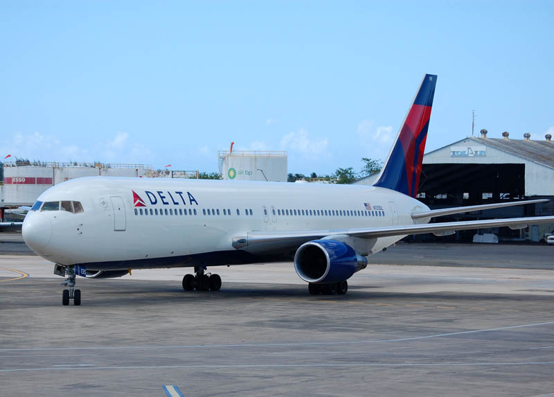 Delta Air Lines Widebody Aircraft Fleet Boeing 767-332 N135DL at San Juan International