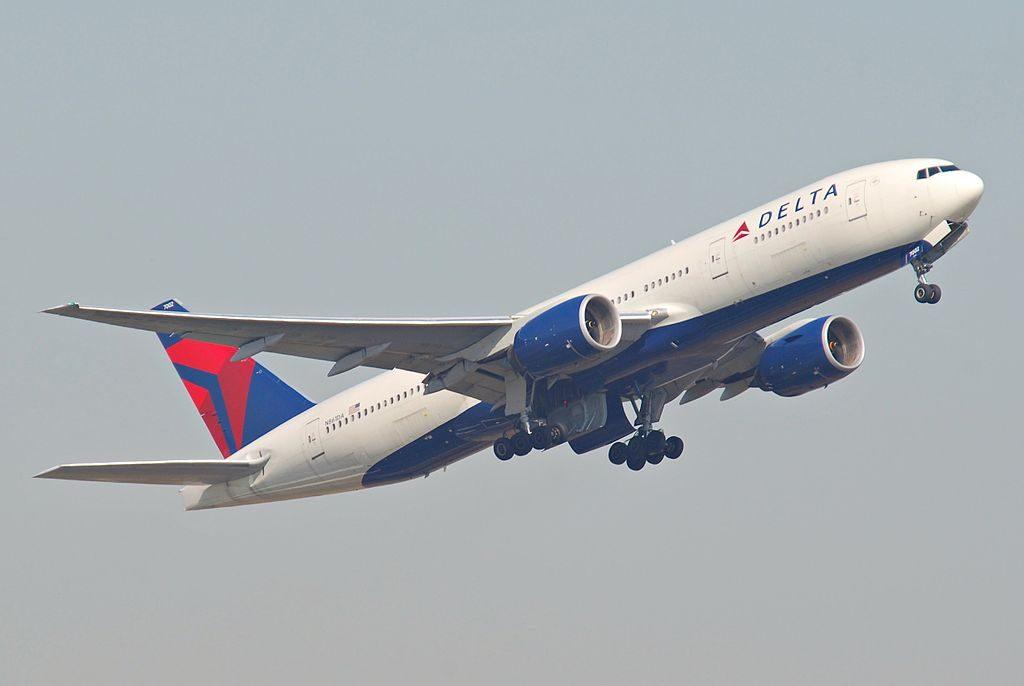 Delta Air Lines Widebody Aircraft Fleet N861DA Boeing 777-232(ER) at Frankfurt Airport (IATA- FRA, ICAO- EDDF) Germany
