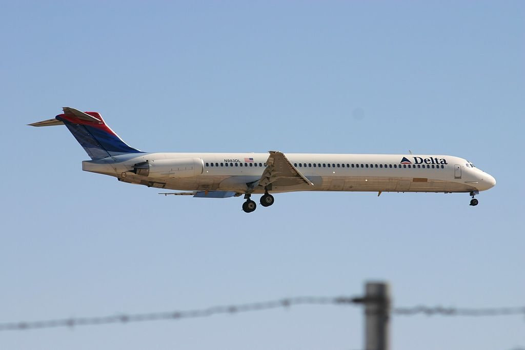 McDonnell Douglas MD-88 N983DL of Delta Air Lines Regional Jet Fleet at Tucson International Airport