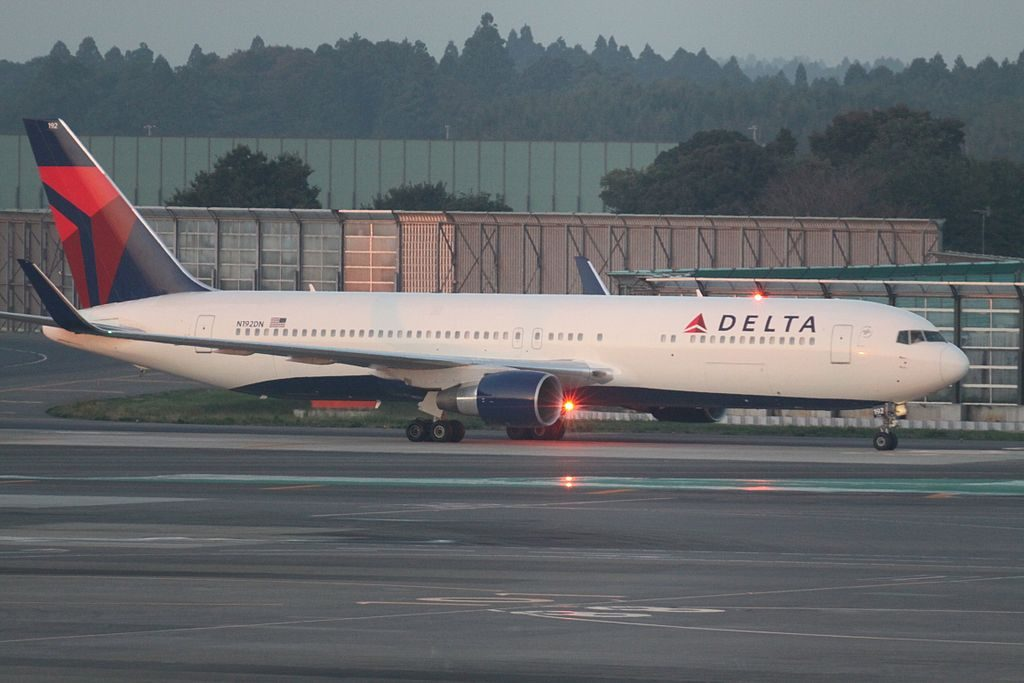 N192DN Boeing 767-332ER cn:serial number- 28449:664 Delta Air Lines Fleet at Tokyo Narita International