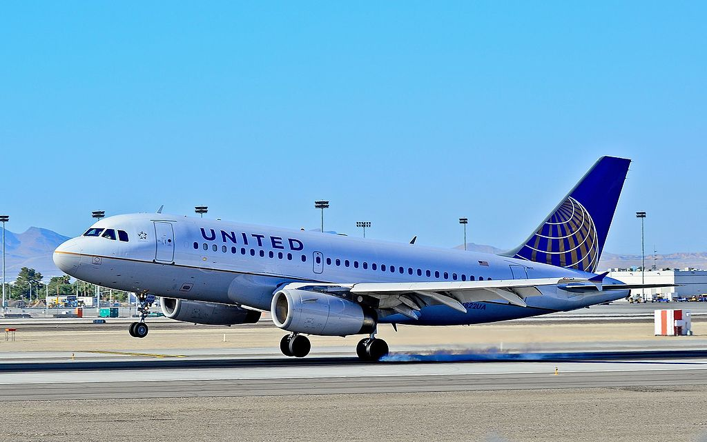 N822UA United Airlines Fleet Airbus A319-131 Las Vegas - McCarran International (LAS : KLAS) USA - Nevada