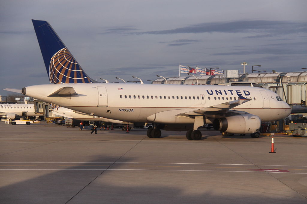 N832UA Airbus A319-131 cn:serial number- 1321 delivered to United Airlines in September 2000 At Chicago O'Hare