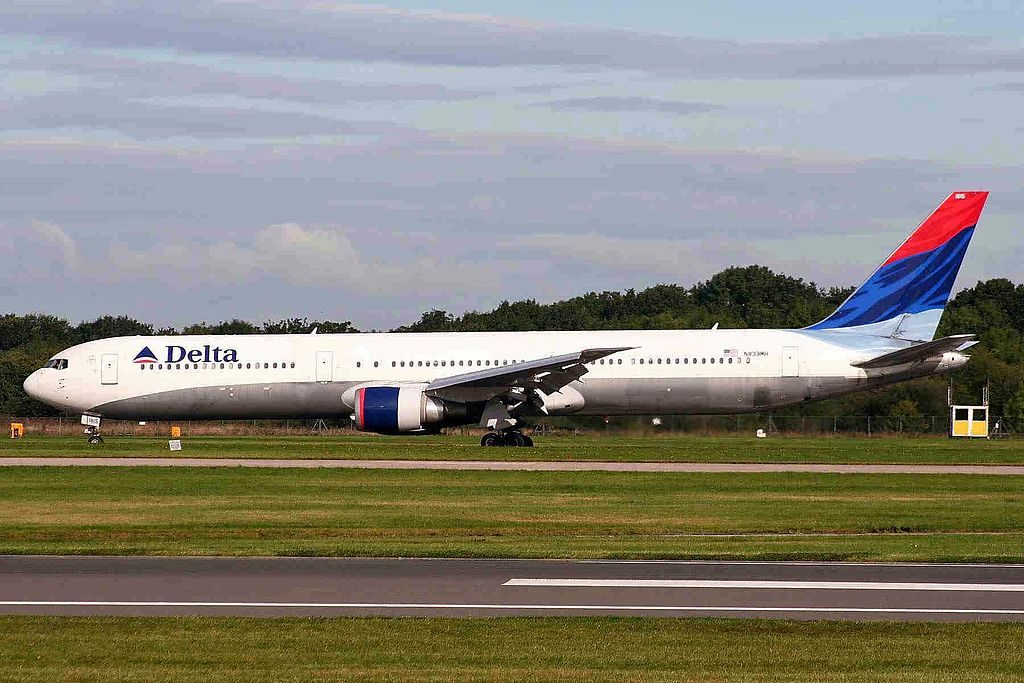 N839MH Boeing B767-432ER Delta Air Lines Fleet at MAN Manchester Ringway Airport