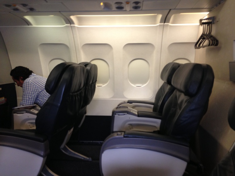 United Airlines Airbus A319-100 Business Class (Domestic First:United First) Cabin Interior Photos