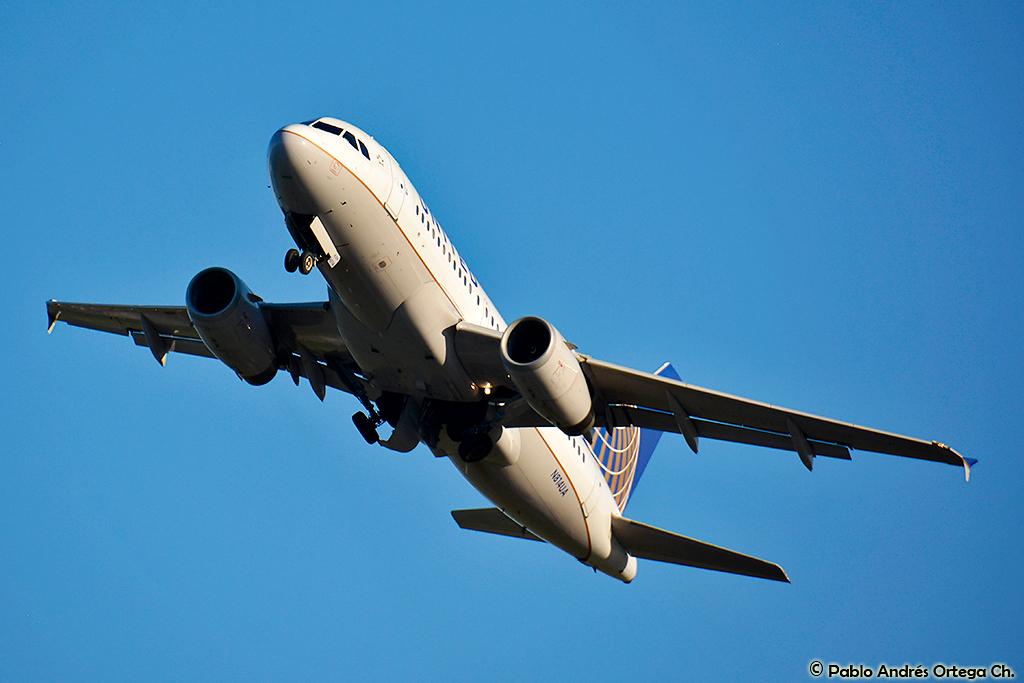 United Airlines Aircraft Fleet Airbus A319 N814UA at Ronald Reagan Washington National Airport @Pablo Andres Ortega