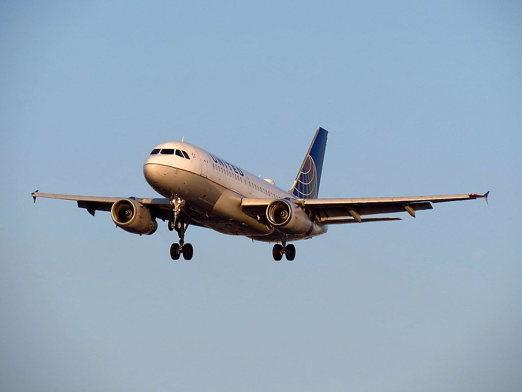 United Airlines Aircraft Fleet N818UA Airbus A319-100 Short Final at Los Angeles International Airport