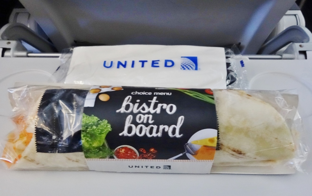 United Airlines Fleet Airbus A319-100 Economy Class Inflight Amenities Services fresh meals for BOB (Buy on Board) photos