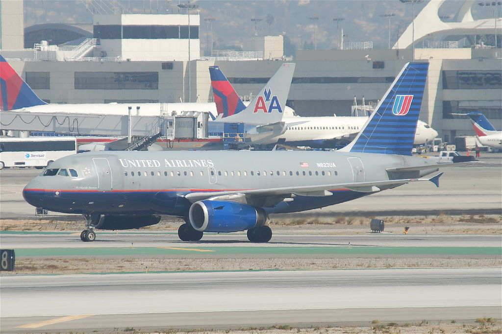 United Airlines Fleet Airbus A319-132; N823UA @LAX