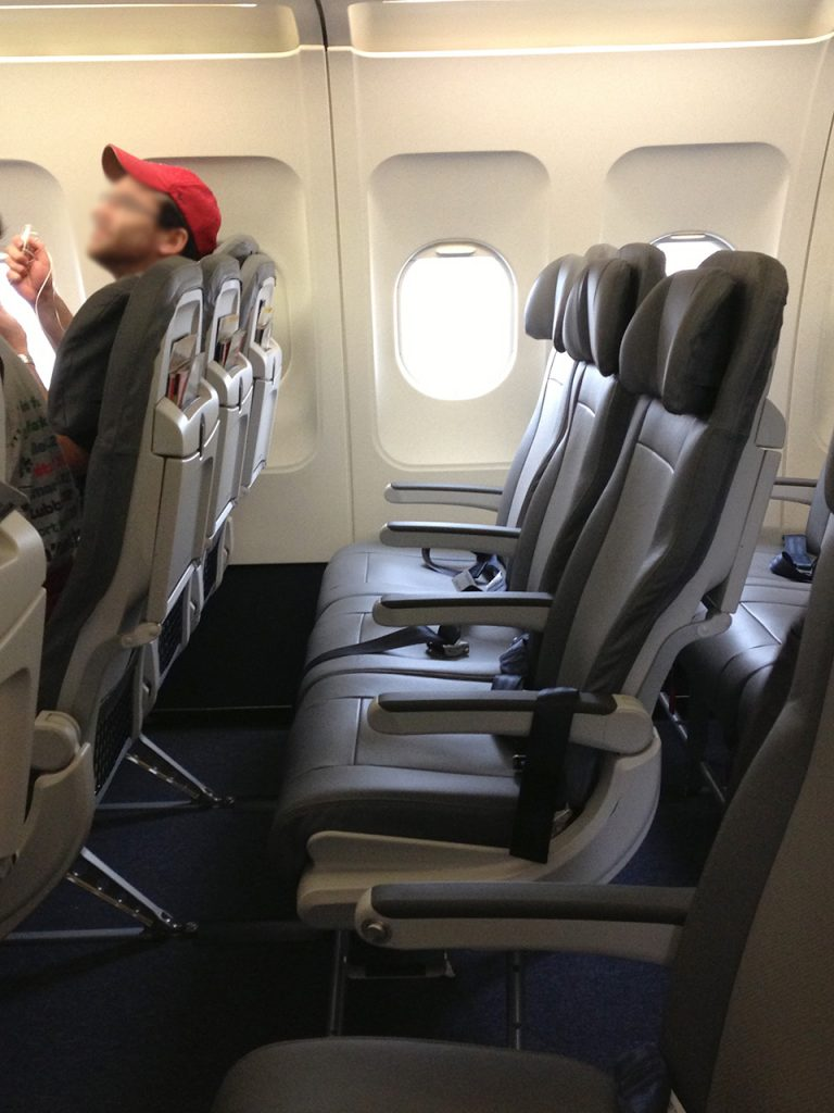 United Airlines Fleet Airbus A320-200 Main Cabin Economy Class Seats Row Extra Legroom Photos