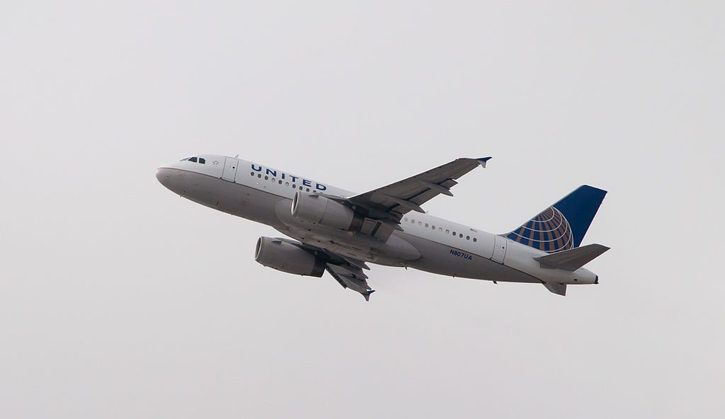 United Airlines Fleet N807UA Airbus A319-100 departing LAX