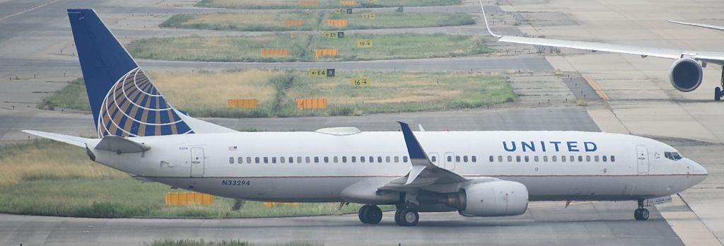 Boeing 737-800 United Airlines Aircraft Fleet N33294 taxiing at Osaka Kansai-KIX, Japan