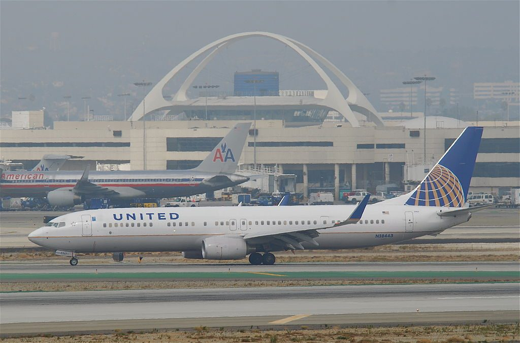 Boeing 737-924ER cn:serial number- 31655:3393 United Airlines Aircraft Fleet N38443 parking at LAX