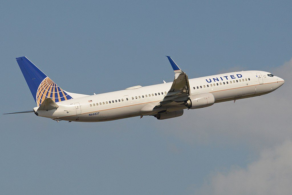 Boeing 737-924ER(w) 'N66837' United Airlines Fleet c:n 60122, l:n 5168. Built 2014. Seen departing on flight UAL1680 to Tampa. George Bush Intercontinental Airport, Houston, Texas, United States