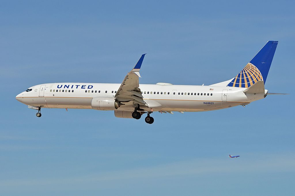 Boeing 737-924ER(w) 'N68821' United Airlines c:n 43535, l:n 4868. Built 2014. Seen arriving on flight UAL427 from Denver. McCarran International Airport, Las Vegas, NV, USA