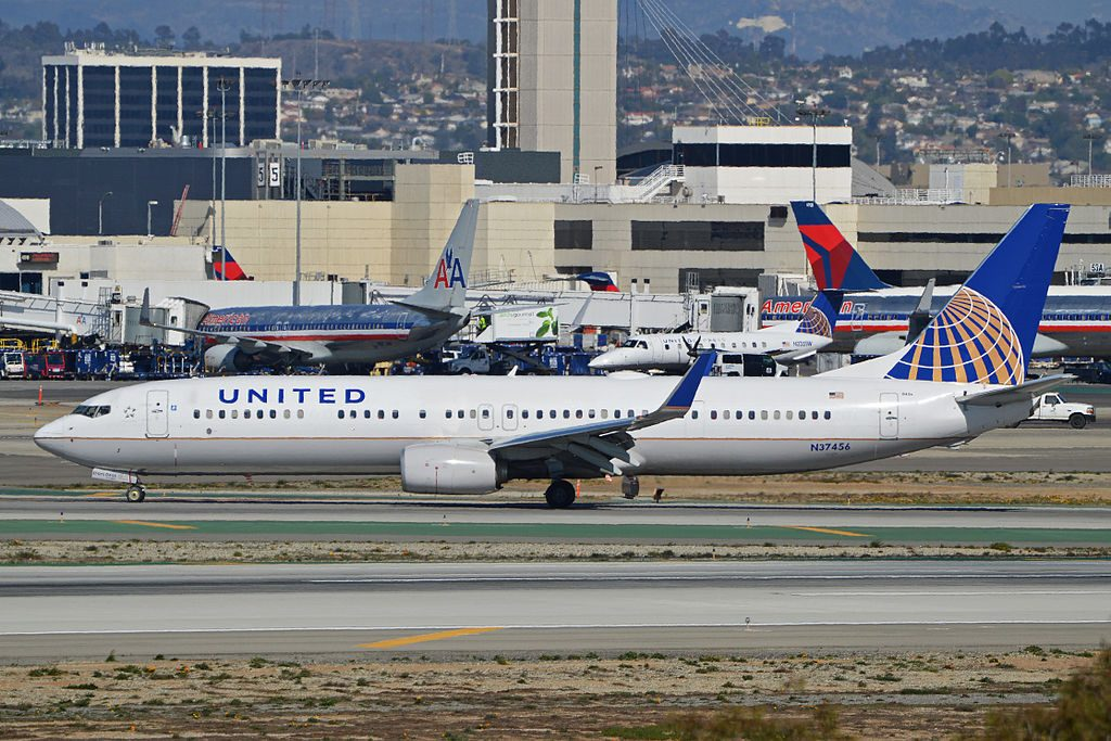 Boeing 737-924ER(w) 'N37456' United Airlines Narrow Body Aircraft c:n 37205, l:n 4164. Built 2012. Seen taxiing in after landing at LAX