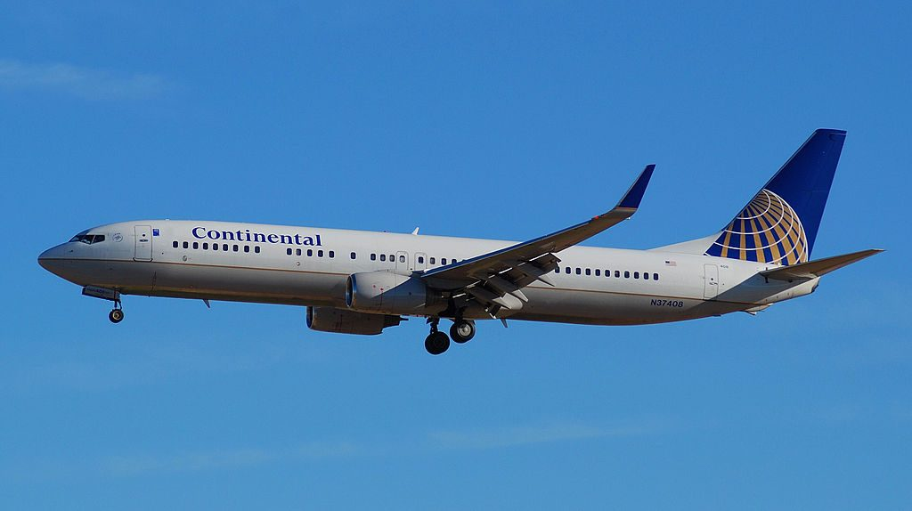 Continental Airlines (United Airlines Fleet) Narrow Body Aircraft Boeing 737-900 N37408 at McCarran International Airport