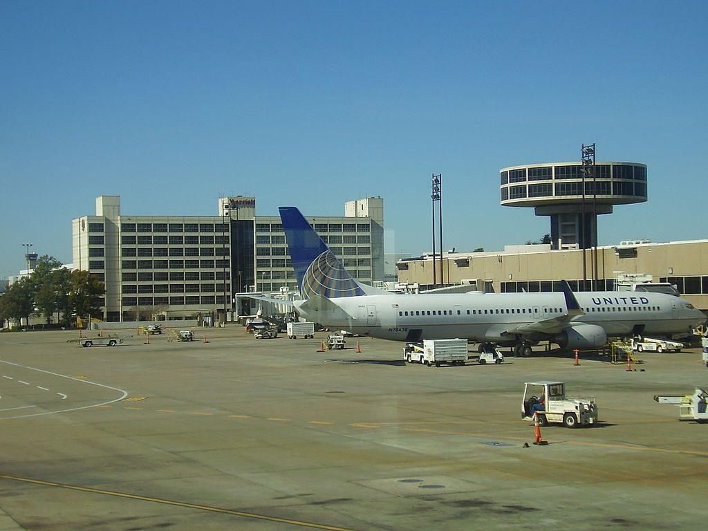 N78438 Boeing B737-924ERW United Airlines Fleet parking at Bush Intercontinental Airport
