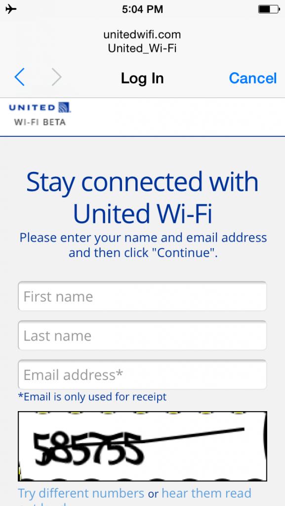United Airlines Aircraft Fleet Boeing 737-900ER Business:First Class Cabin Inflight Amenities Internet:WiFi Services