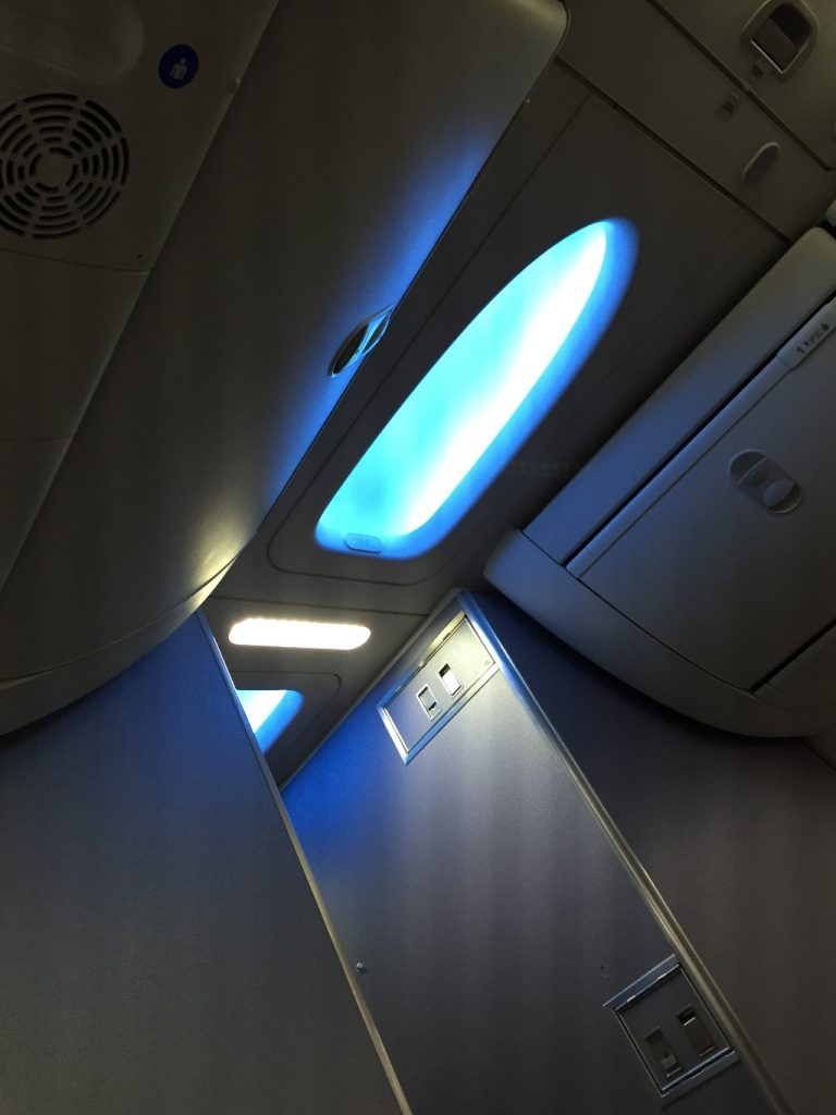 United Airlines Aircraft Fleet Boeing 737-900ER Business:First Class Cabin Sky Interior plane mood lightning