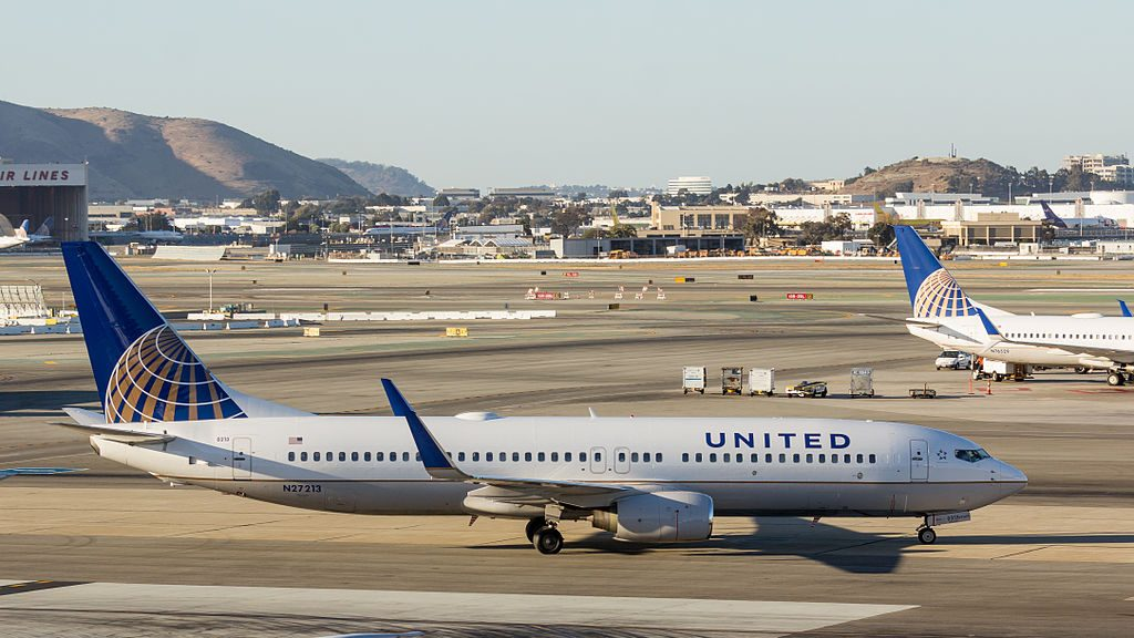 United Airlines Aircraft Fleet N27213 Boeing 737-800 taxiing at SFO San Francisco International Airport