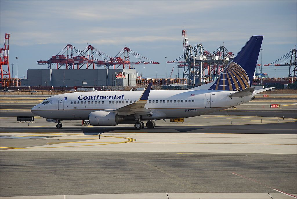 United Airlines Aircraft Fleet N27722 (ex Continental Airlines) Boeing 737-724 cn:serial number- 28789:247 winglets taxiing at Newark Liberty International Airport