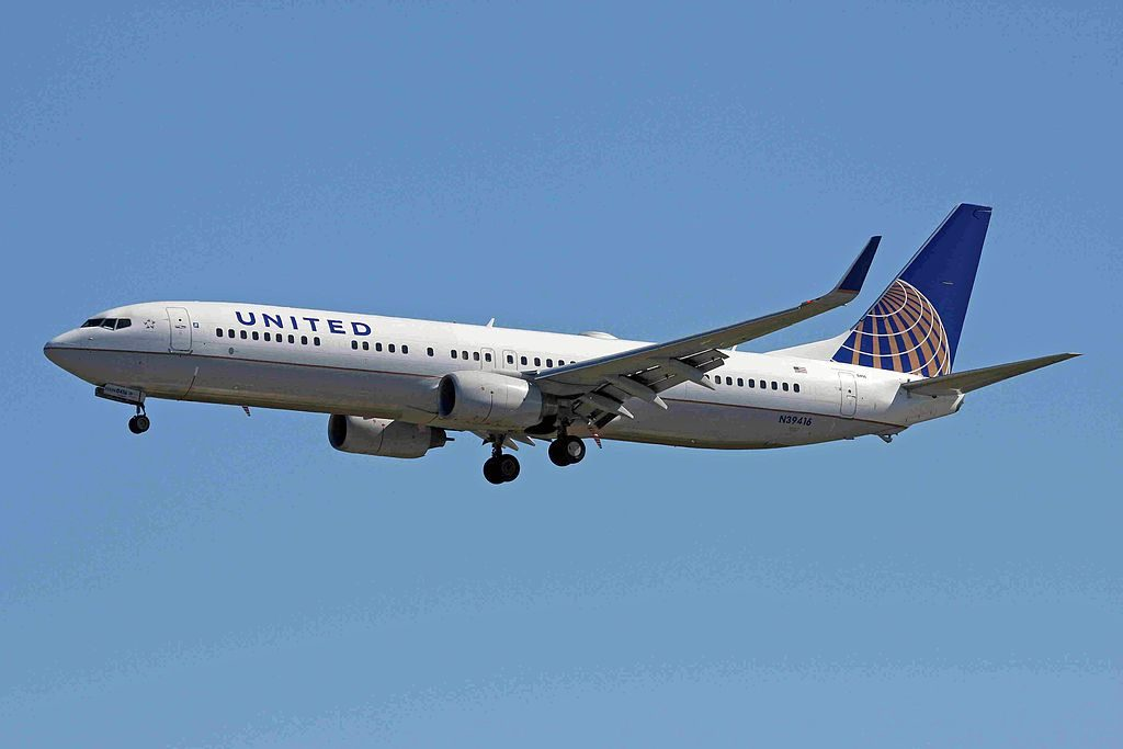 United Airlines Aircraft Fleet N39416 Boeing B737-924ERW on final approach at Vancouver International Airport