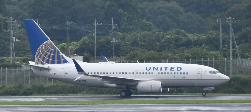United Airlines Aircraft Fleet N39726 (ex Continental Airlines) Boeing 737-724 winglets cn:serial number- 28796:315 at Tokyo Narita-NRT, Japan