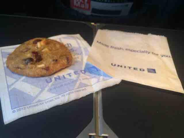United Airlines Fleet Boeing 737-700 Inflight Amenities Snacks Cookies and Drinks Services