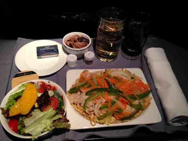 United Airlines Fleet Boeing 737-700 Micronesia First Class:United First:Business Class Inflight Amenities Dinner Services Menu
