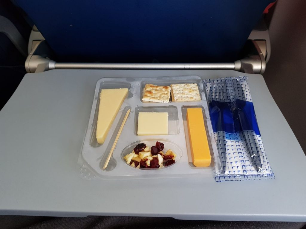 United Airlines Fleet Boeing 737-800 Main Cabin Economy Class Inflight Amenities Buy On Board Services Snack Flat for 7 USD