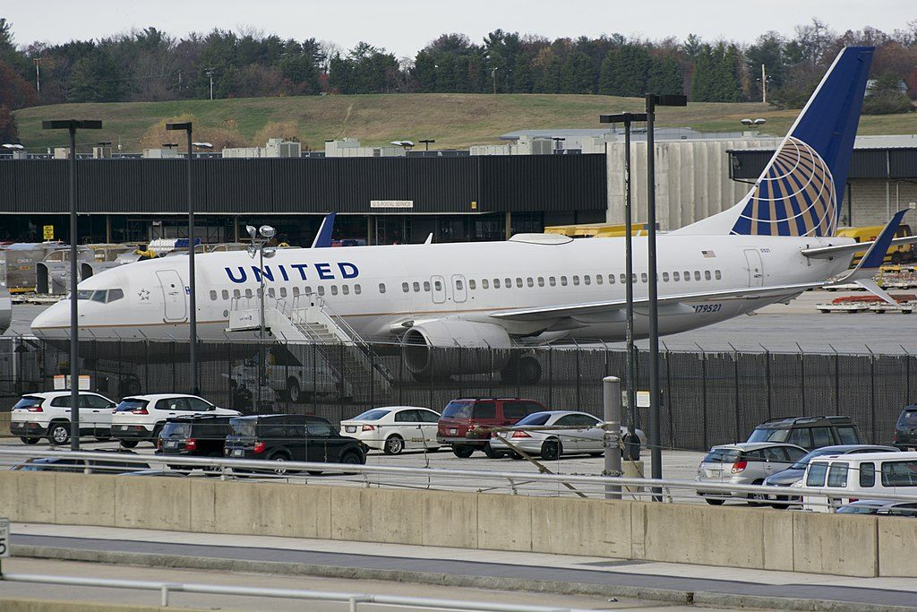 United Airlines Fleet Boeing 737-800 N79521 at Baltimore-Washington International Thurgood Marshall Airport (BWI), Maryland, USA
