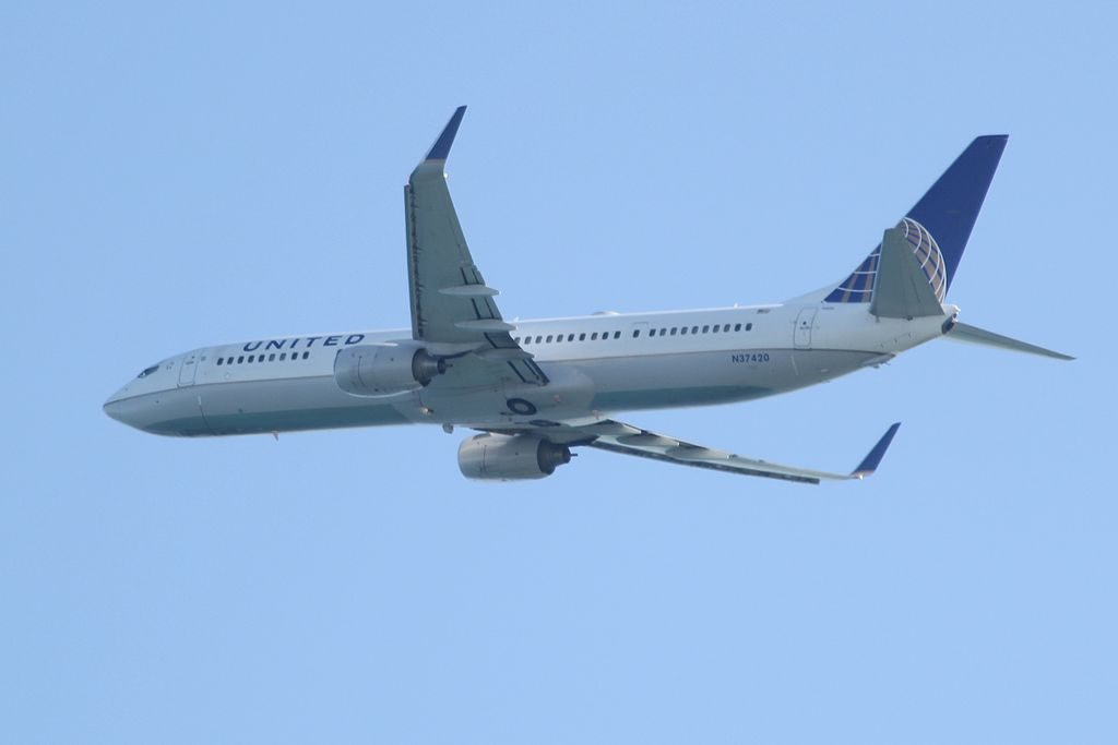 United Airlines Fleet N37420 Boeing 737-924(ER)(WL) Seen just after take off at Fort Lauderdale-Hollywood International Airport (FLL)