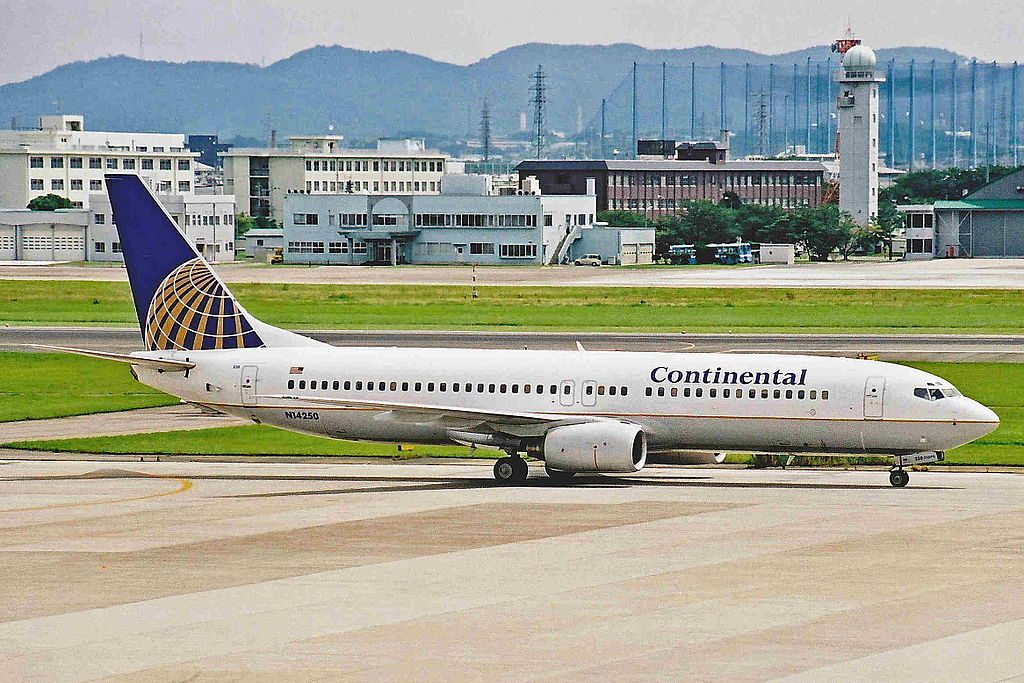 United Airlines Fleet (ex Continental Airlines) N14250 (Micronesia) Boeing B737-824 operated on pacific routes at Chubu Centrair International Airport